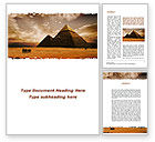 Flags/International: Pyramid of Khafre Word Template #09511