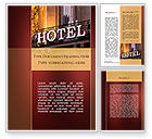 Business: Hotel Signboard Word Template #09516