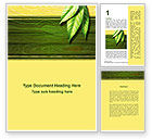 Nature & Environment: Spring Forest Word Template #09517
