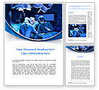 Medical: Surgical Operation In A Blue Palette Word Template #09528