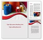 Careers/Industry: Needle And Threads Word Template #09530