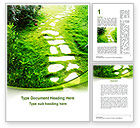 Nature & Environment: Forest Trail Word Template #09542