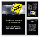 Business Concepts: Risky Business Word Template #09560