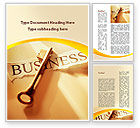 Business: Key Of Business Word Template #09570