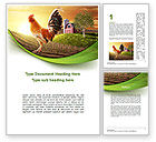 Agriculture and Animals: Morning At The Farm Word Template #09579