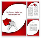 Construction: Red Bunch Of Keys Word Template #09583