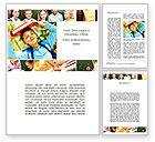 Education & Training: Primary School Kids Word Template #09587