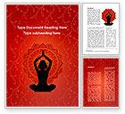 Sports: Meditation Yoga Word Template #09595