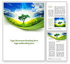 Nature & Environment: Lonely Tree Word Template #09600