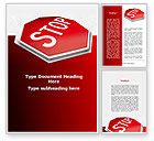 Consulting: Stop Road Sign Word Template #09606