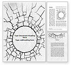 Abstract/Textures: Hole In The Stone Wall Word Template #09615