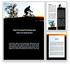 Sports: Bicycle Tour Word Template #09619