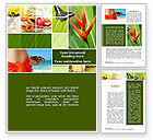 Holiday/Special Occasion: Exotic Island Vacation Word Template #09627