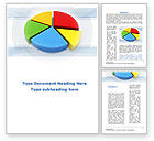 Business: Pie Diagram In 3D Word Template #09631
