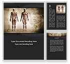 Medical: Male Body Anatomy Word Template #09632