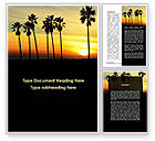 Holiday/Special Occasion: Sunset On The Tropic Island Word Template #09639