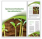 Agriculture and Animals: Young Shoots Word Template #09650