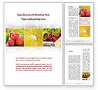 Food & Beverage: Vitaminized Berry Word Template #09653