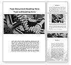 Careers/Industry: Gear Reducer Word Template #09674