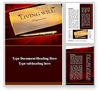 Legal: Living Will Word Template #09676