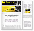 Cars/Transportation: Airport Terminal Word Template #09683