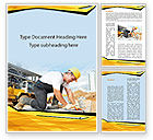 Construction: House Builder On Construction Site Word Template #09684