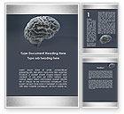 Medical: Modèle Word de modèle de cerveau humain #09687