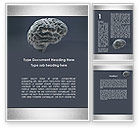 Medical: Human Brain Model Word Template #09687