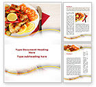 Food & Beverage: Fried Chicken Word Template #09689