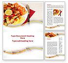 Food & Beverage: Fried Chicken Word Template #09689