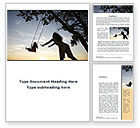 Religious/Spiritual: Mother Swings Her Daughter On A Swing Word Template #09691
