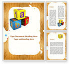 Education & Training: Cubes For Basic Education Word Template #09704