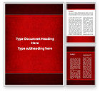 Abstract/Textures: Red Silk Backing Word Template #09713