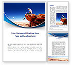 Telecommunication: Laptop On The Top Of The World Word Template #09722