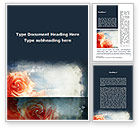 Holiday/Special Occasion: Tender Roses Word Template #09723