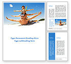 Holiday/Special Occasion: Happy Family On The Beach Word Template #09738