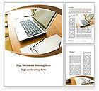 Business Concepts: Modèle Word de bureau de travail #09748