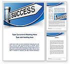 Consulting: Way To Success Word Template #09753