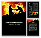Military: Firefighters Word Template #09755