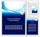Global: Abstract Blue With Globe Word Template #09765