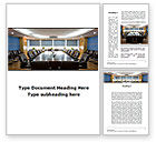 Business: Corporate Conference Hall Word Template #09766