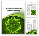 Technology, Science & Computers: Virus Under An Electron Microscope Word Template #09767