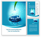 Nature & Environment: Dew Drops Falling With Splash Word Template #09784