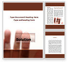Consulting: Solution Button Word Template #09806