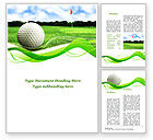 Sports: Ball For Golf Word Template #09807