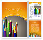 Education & Training: Colored Pencils Word Template #09811
