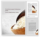 Food & Beverage: Oblong Rice Word Template #09814