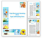 Holiday/Special Occasion: Beach Resort Collage Word Template #09842