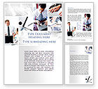 Business: Day At The Office Word Template #09851