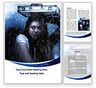 Consulting: Girl Under The Rain Word Template #09852